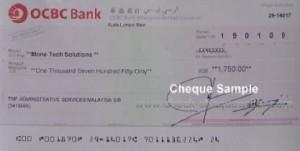 ocbc cheque
