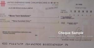 uob cheque